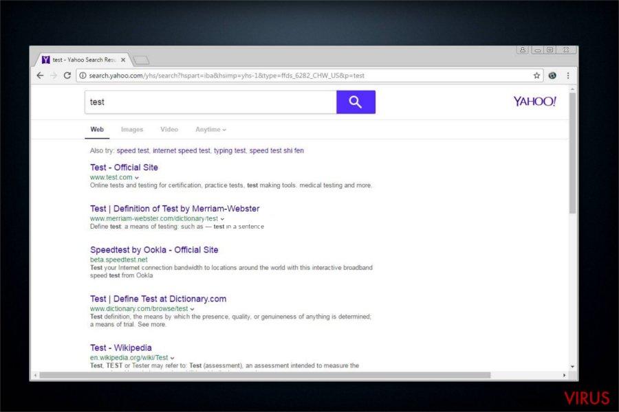 search.yahoo.com omdirigering snapshot