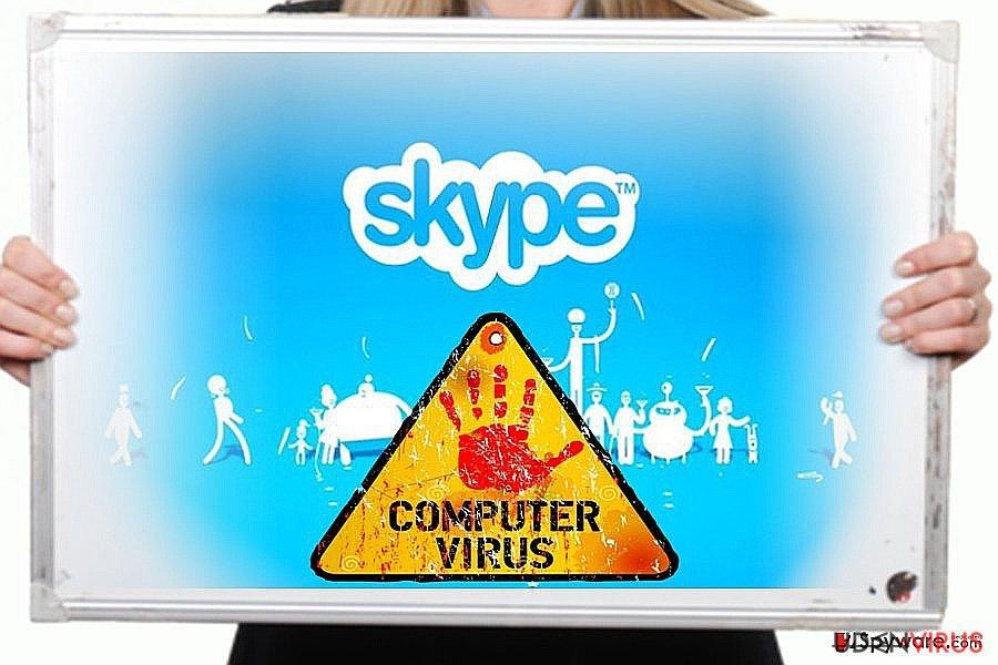 Skype virus snapshot