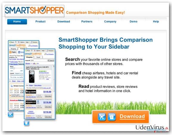 'Annoncer af SmartShopper' virus snapshot