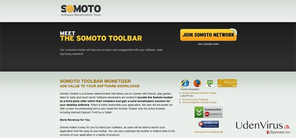 Somoto Toolbar snapshot
