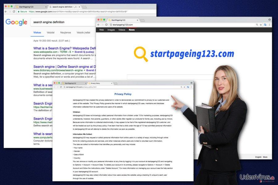 Billede af StartPageing123 virus