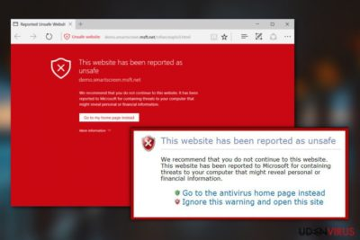 Denne hjemmeside er blevet rapporteret som usikker virus
