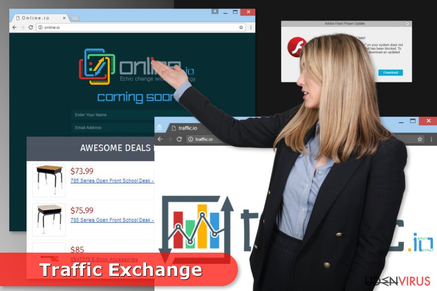 Illustration af Traffic Exchange adware
