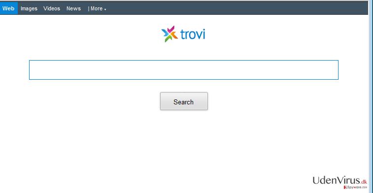 Trovi.com omdirigering snapshot