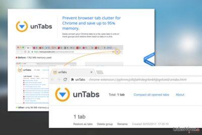 UnTabs virus