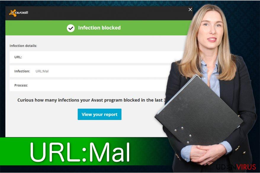 Illustrationen af URL: Mal adware