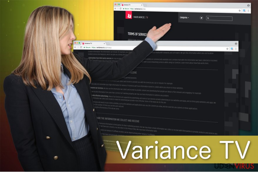 Illustrationen af Variance TV virus