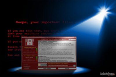 Billedet viser fremkomsten af WannaCry 3.0
