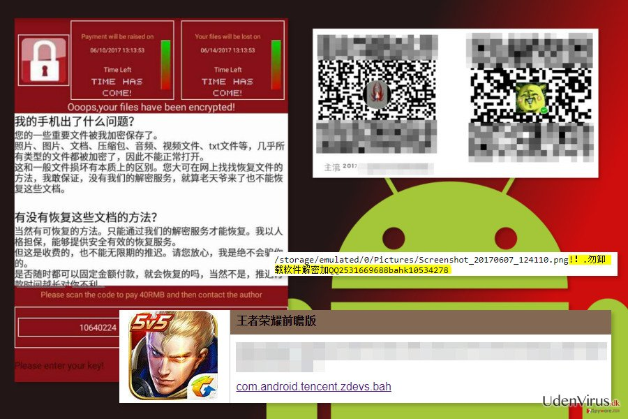 The image of WannaLocker ransomware virus