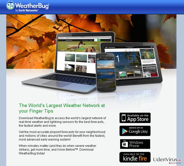 Annoncer fra Weather Bug snapshot