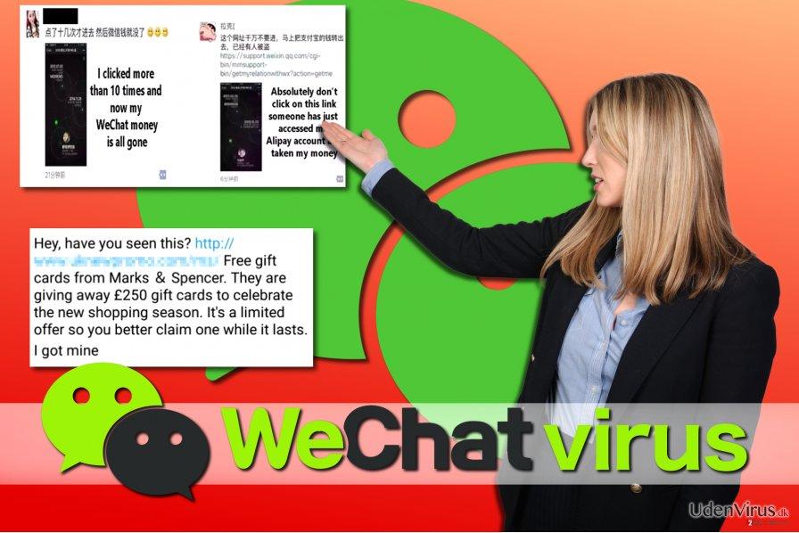 WeChat virus eksempler