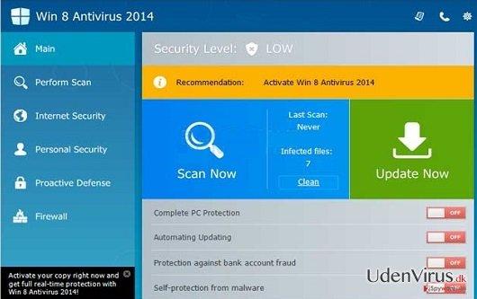 Win 8 Antivirus 2014 snapshot