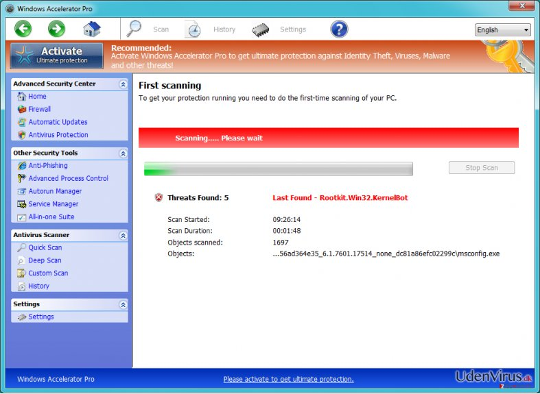Windows Accelerator Pro snapshot