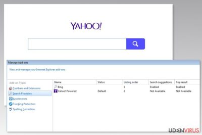 Billede af Yahoo Powered virus