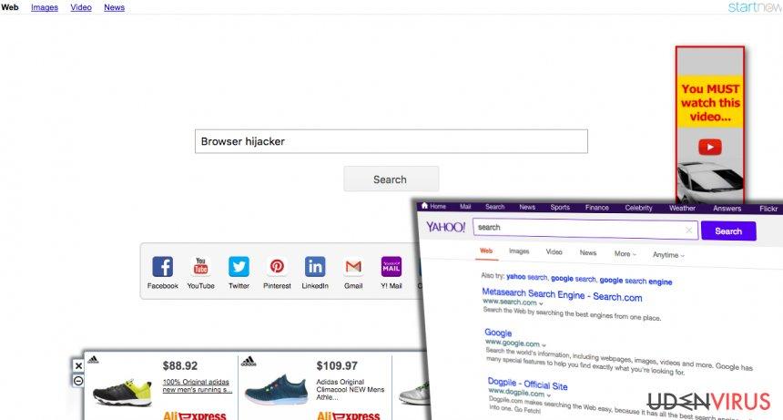 Yahoo Startnow Virus snapshot