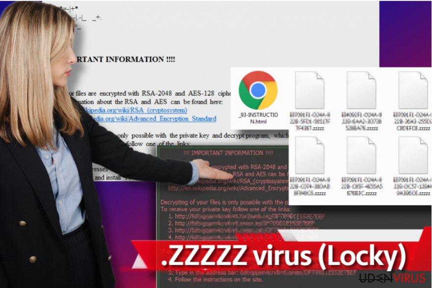 Zzzzz ransomware virus snapshot